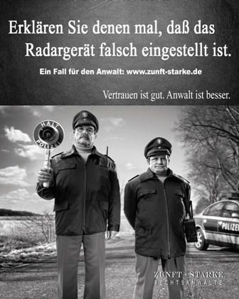 Polizisten-Radarkontrolle